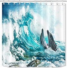 Youth Shower Curtain Happy People Bubble Digitally