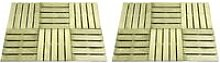 Youthup - 12 pcs Decking Tiles 50x50 cm Wood Green