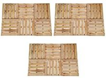 Youthup - 18 pcs Decking Tiles 50x50 cm Wood Brown