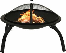 YOUTHUP 2-in-1 Fire Pit and BBQ with Poker