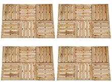 Youthup - 24 pcs Decking Tiles 50x50 cm Wood Brown