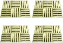 Youthup - 24 pcs Decking Tiles 50x50 cm Wood Green