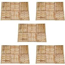 Youthup - 30 pcs Decking Tiles 50x50 cm Wood Brown