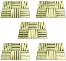 Youthup - 30 pcs Decking Tiles 50x50 cm Wood Green