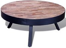 Youthup - Coffee Table Round Reclaimed Teak Wood