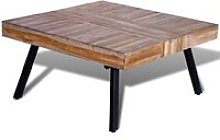 Youthup - Coffee Table Square Reclaimed Teak Wood
