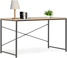 Youthup - Computer Desk Black and Oak 120x60x70 cm