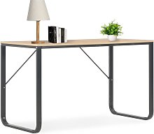 Youthup - Computer Desk Black and Oak 120x60x73 cm