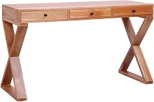 Youthup - Computer Desk Natural 132x47x77 cm Solid