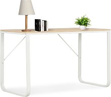 Youthup - Computer Desk White and Oak 120x60x73 cm