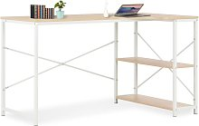 Youthup - Computer Desk White and Oak 120x72x70 cm