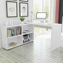 Youthup - Corner Desk 4 Shelves White