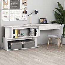 Youthup - Corner Desk High Gloss White 200x50x76