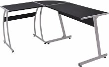 Youthup - Corner Desk L-Shaped Black