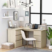 Youthup - Corner Desk Sonoma Oak 145x100x76 cm