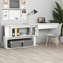 Youthup - Corner Desk White 200x50x76 cm Chipboard