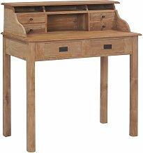 Youthup - Desk 90x50x100 cm Solid Teak Wood