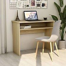 Youthup - Desk Sonoma Oak 90x50x74 cm Chipboard