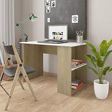 Youthup - Desk White and Sonoma Oak 110x60x73 cm