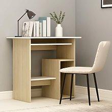 Youthup - Desk White and Sonoma Oak 80x45x74 cm