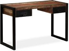 Youthup - Desk with 2 Drawers Solid Reclaimed Wood
