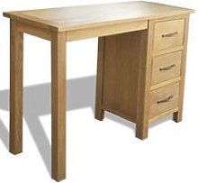 Youthup - Desk with 3 Drawers 106x40x75 cm Solid