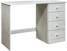 Youthup - Desk with 4 Drawers 110x50x74 cm Solid
