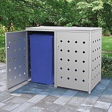 Youthup - Double Wheelie Bin Shed 240 L Stainless