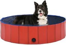 Youthup - Foldable Dog Swimming Pool Red 120x30 cm