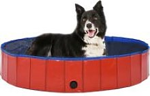 Youthup - Foldable Dog Swimming Pool Red 160x30 cm