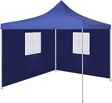 Youthup - Foldable Tent with 2 Walls 3x3 m Blue