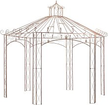 Youthup - Garden Pavilion Antique Brown 4 m Iron