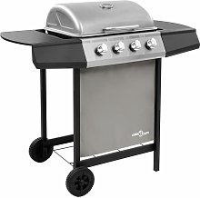 Youthup - Gas BBQ Grill with 4 Burners Black and