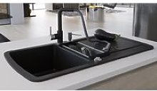 Youthup - Granite Kitchen Sink Double Basin Black