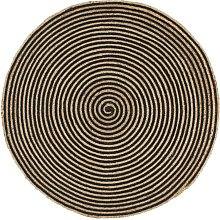 Youthup - Handmade Rug Jute with Spiral Print