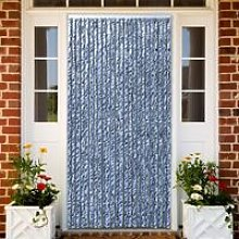 Youthup - Insect Curtain Blue, White and Silver