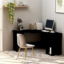 Youthup - L-Shaped Corner Desk Black 120x140x75 cm