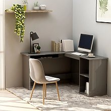 Youthup - L-Shaped Corner Desk High Gloss Grey