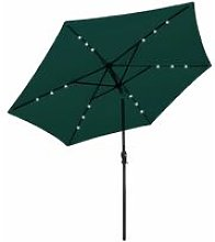 Youthup - LED Cantilever Umbrella 3 m Green