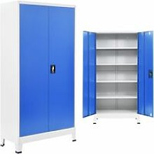 Youthup - Office Cabinet Metal 90x40x180 cm Grey