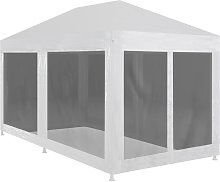 Youthup - Party Tent with 6 Mesh Sidewalls 6x3 m