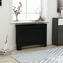 Youthup - Radiator Cover Black 112x19x81 cm MDF