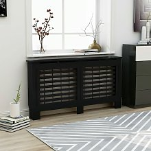 Youthup - Radiator Cover Black 152x19x81 cm MDF