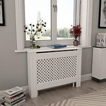Youthup - Radiator Cover White 112x19x81.5 cm MDF