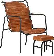 YOUTHUP Relaxing Armchair with a Footrest Brown