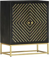 Youthup - Sideboard Black and Gold 60x30x75 cm