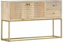 Youthup - Sideboard Gold 120x30x75 cm Solid Mango