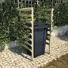 Youthup - Single Bin Shed Green 70x80x150 cm