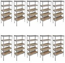 Youthup - Storage Rack Garage Storage Shelf 10pcs