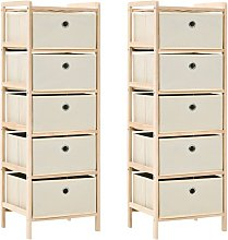 Youthup - Storage Racks with 5 Fabric Baskets 2